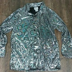 Other - Silver Disco Shirt. NWT. Halloween. Size M